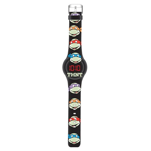 TMNT Glow In The Dark Faces LED Watch