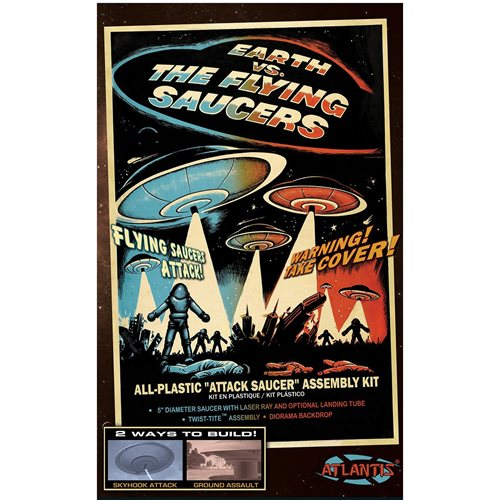 Earth vs. the Flying Saucers UFO 2nd Edition Model Kit