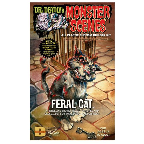 Feral Cat Monster Scenes Diorama Model Kit