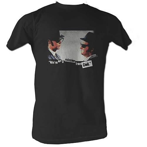 Blues Brothers Mission Black T-Shirt