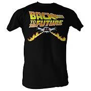 Back to the Future Car Speeding Black T-Shirt