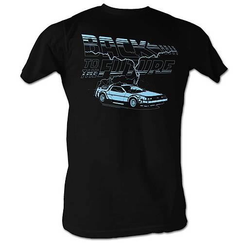 Back to the Future Ride the Lightning Black T-Shirt