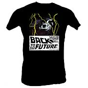 Back to the Future In Space Black T-Shirt