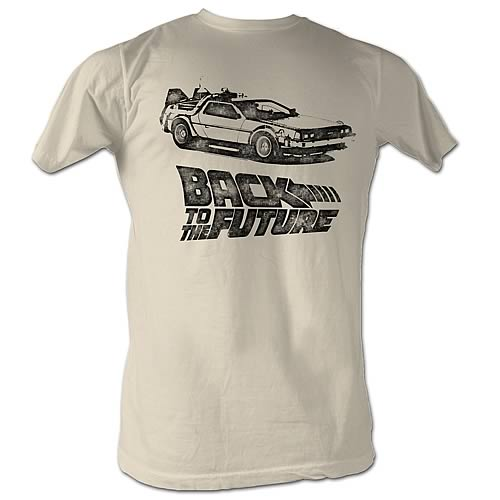 Back to the Future DMC Ink Tan T-Shirt