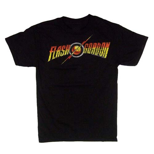 Flash Gordon Logo Black T-Shirt