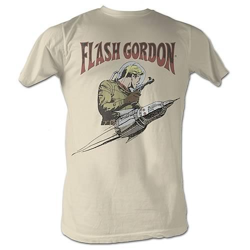 Flash Gordon Flash Rocket Cream T-Shirt