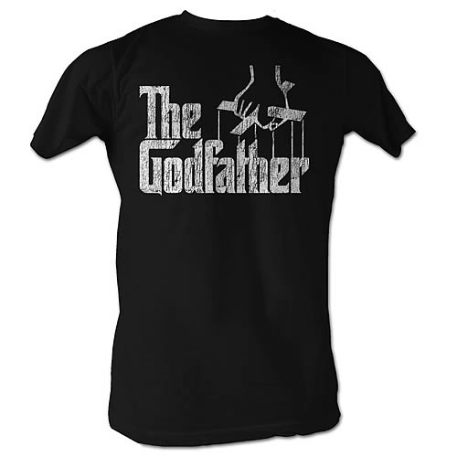 Godfather Distress Logo Copy Black T-Shirt