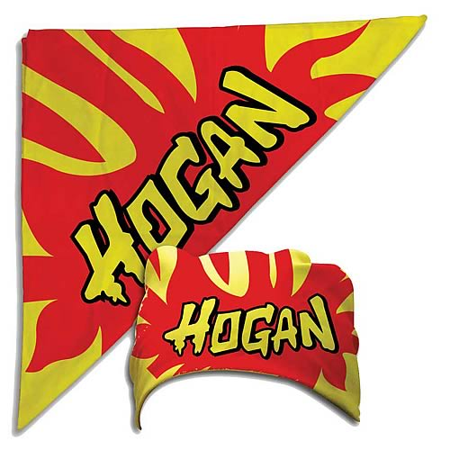 Hulk Hogan Flames Yellow Bandana