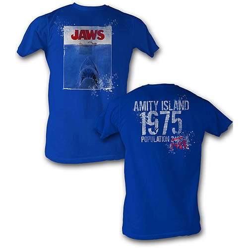 Jaws 1975 Movie Poster T-Shirt