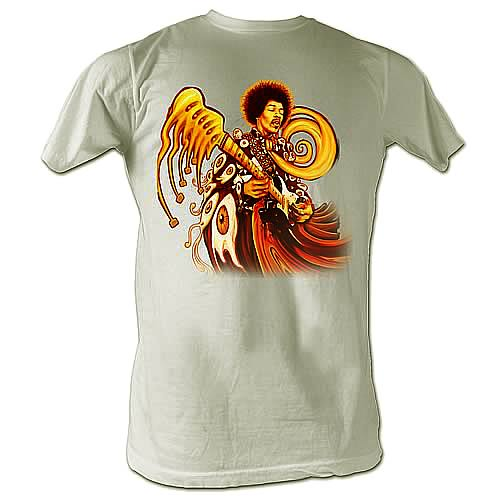 Jimi Hendrix Melting Jimi Cream T-Shirt