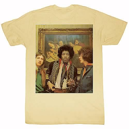 Jimi Hendrix At A Hotel Tan T-Shirt