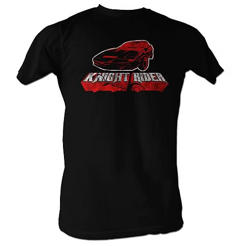 Knight Rider Red Logo Black T-Shirt
