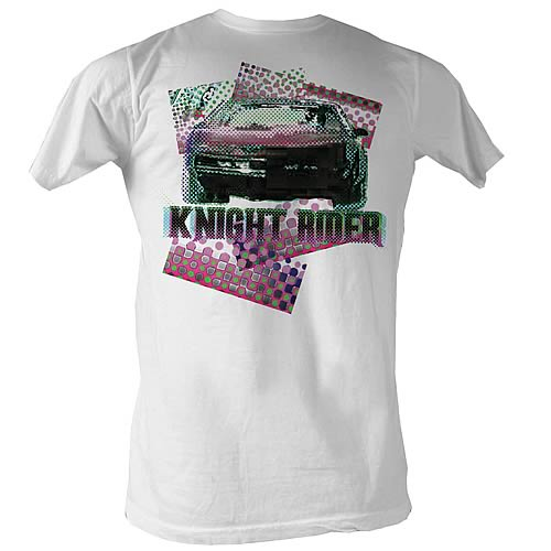 Knight Rider Halftone White T-Shirt