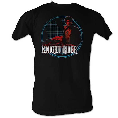 Knight Rider Knight Light Black T-Shirt