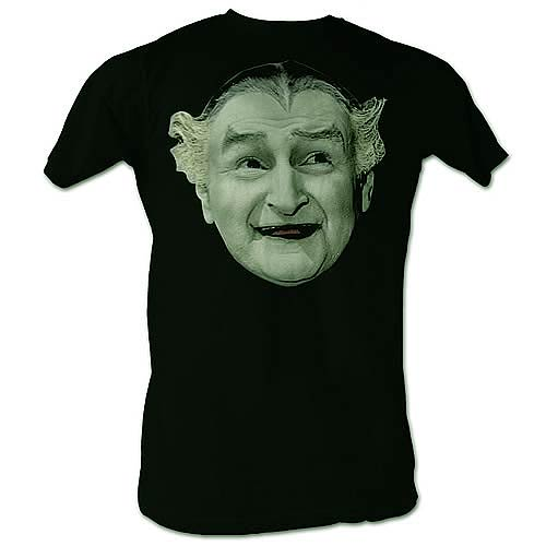 Munsters Grandpa Head Black T-Shirt