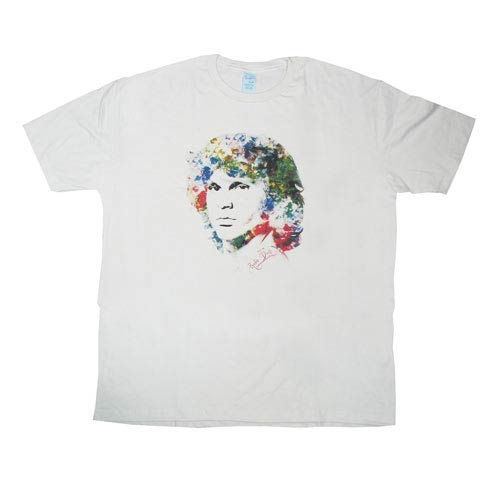 Doors Jim Morrison Jimbo Flower White T-Shirt