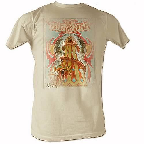 Beatles Helter Skelter Lighthouse Tan T-Shirt