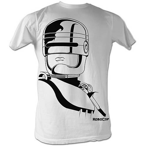 RoboCop Animated Roboface White T-Shirt