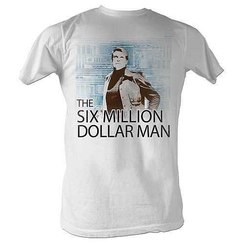 Six Million Dollar Man Circuit White T-Shirt