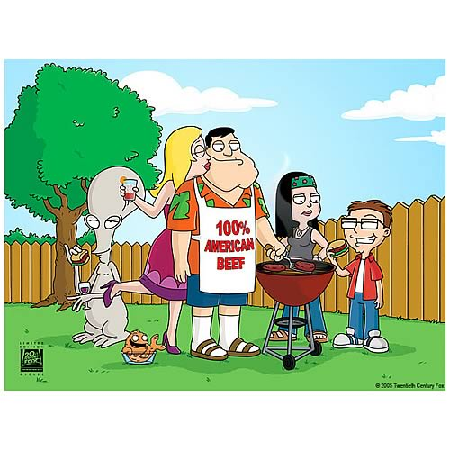 American Dad BBQ Giclee