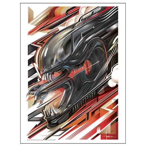 Aliens Rage by Orlando Arocena Metallic Lithograph