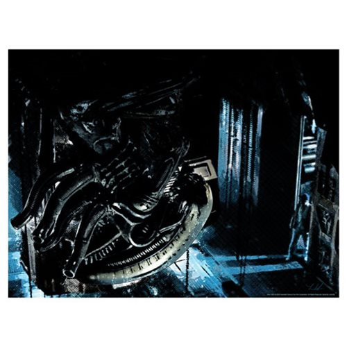 Alien In Space No One Can Hear You Scream Lithograph