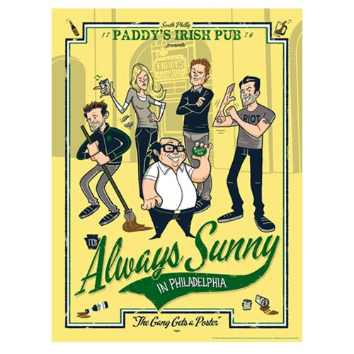 It's Always Sunny The Gang Gets a Poster Lithograph