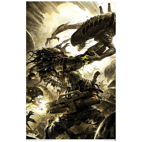 Alien vs. Predator Three World War #4 Lithograph Print