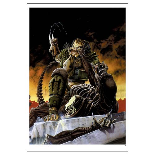Aliens vs. Predator Blood Time Paper Giclee Art Print