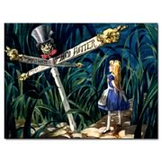Alice In Wonderland All Roads Lead to the Mad Hatter Print