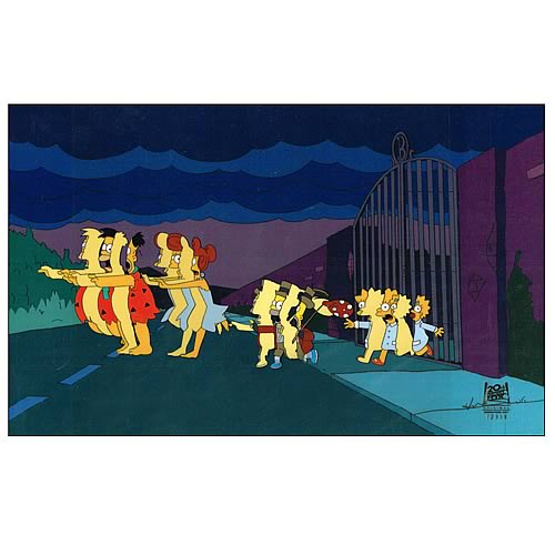 Simpsons Treehouse of Horror XII Original Animation Cel