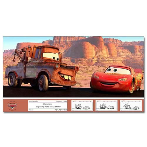 Disney Pixar Cars Two For The Road Paper Giclee