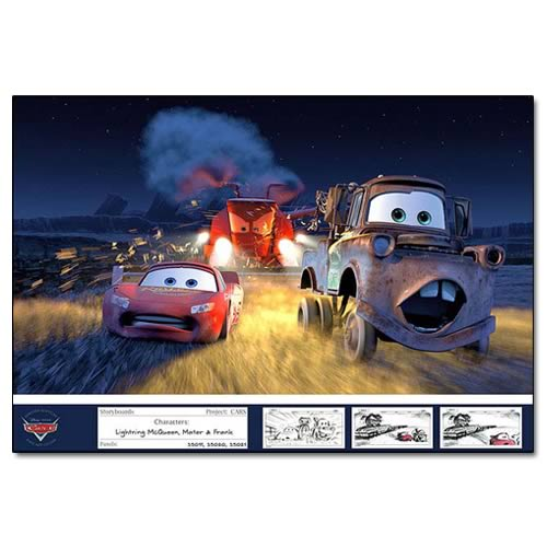 Disney Pixar Cars Tippin' Gone Bad Paper Giclee