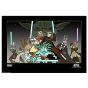Star Wars Clone Wars Light of the Jedi Paper Giclee Print