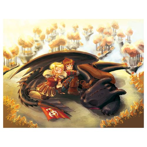 How to Train Your Dragon 2 Uncharted Territory Lithograph