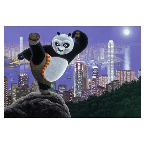 Kung-Fu Panda Hong Kong Warrior Small Canvas Giclee Print
