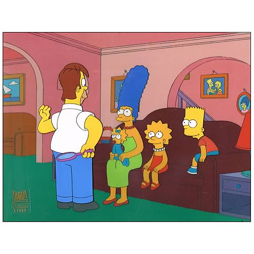 Simpsons Treehouse of Horror IX Original Animation Cel