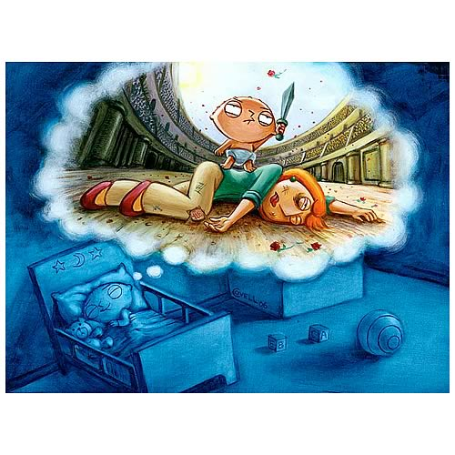 Family Guy Mark Covell Stewie's Dream Unframed Canvas Giclee