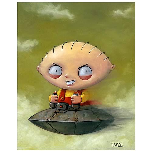 Family Guy Bob Dob Speed Demon Framed Canvas Giclee