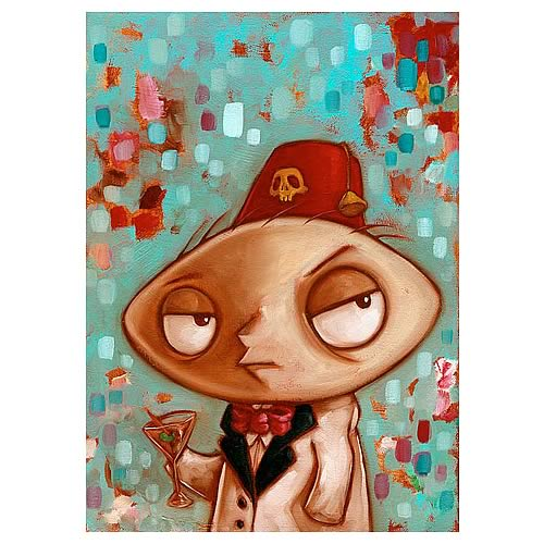 Family Guy Shriner Stewie Framed Canvas Giclee