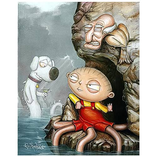 Family Guy Wait a Second Unframed Canvas Giclee
