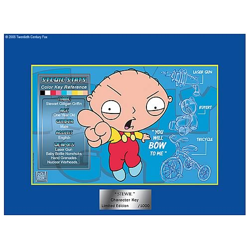 Family Guy Stewie Limited Edition Character Key