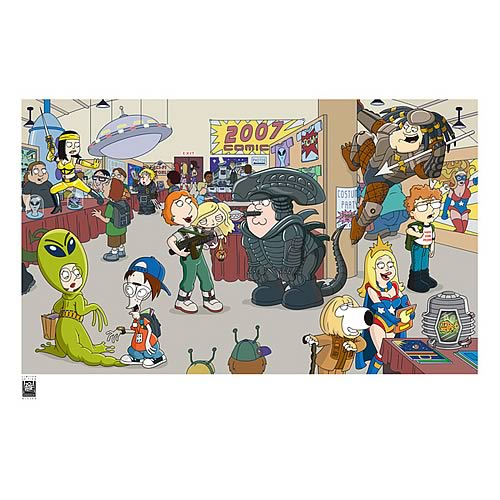 Family Guy / American Dad Comic-Con Paper Giclee Print