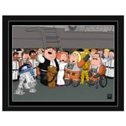 Star Wars Family Guy Victory! Paper Giclee Print