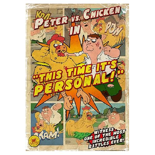 Family Guy Peter vs. Chicken II Small Giclee Print