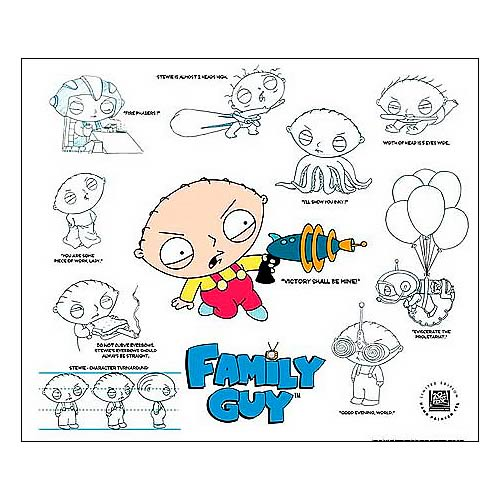 Family Guy Stewie Hand-Painted LE Model Sheet