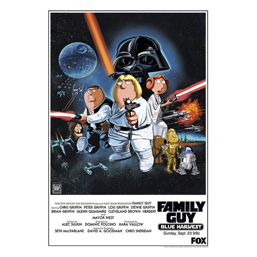Star Wars Family Guy Blue Harvest Poster