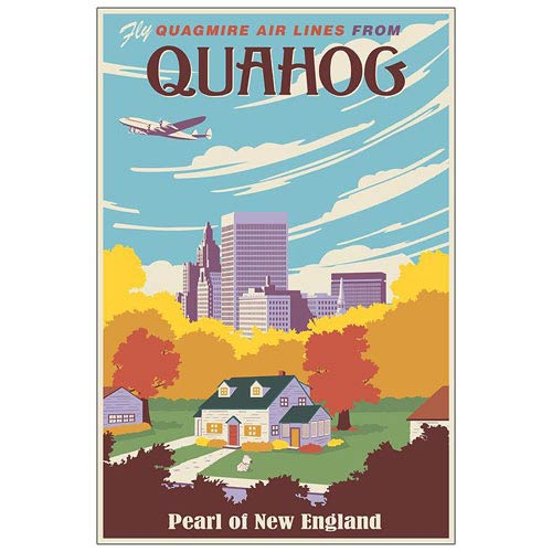 Family Guy Quahog the Pearl of New England Paper Giclee