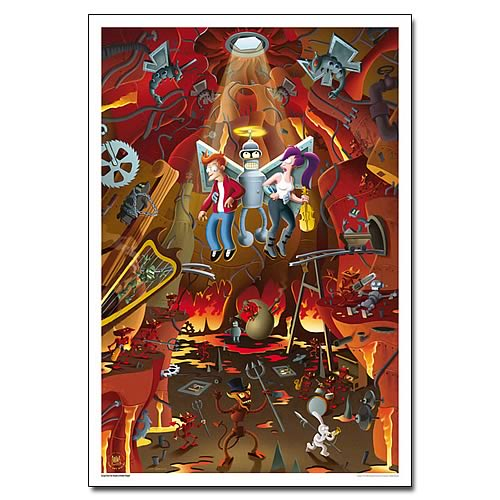 Futurama Escape from Bowels of Hellish Delight Large Print
