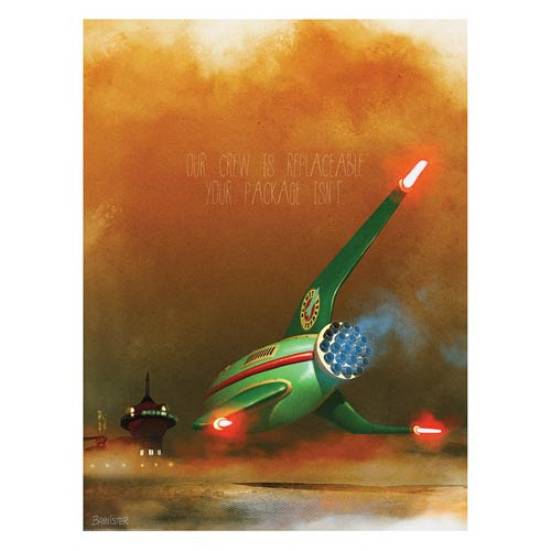 Futurama Planet Express Delivery Service Lithograph Print